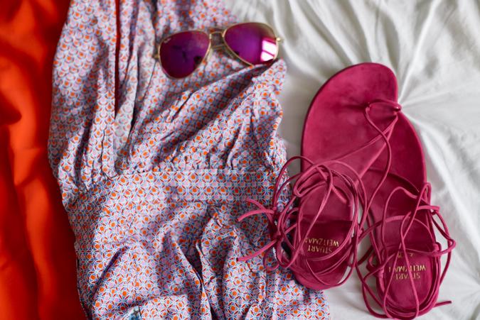miami, packing list, packing, what to pack, miami beach, south beach, travel, florida, suitcase, pack your suitcase, what to pack for miami, beachwear, beach wear, bikinis, kate spade, bikini, sandals, bright colored sandals, bright colors, havaianas, steve madden, steve madden heels, tory burch handbag, raffia clutch, gladiator sandal, romper, ray ban, ray ban aviators, brics suitcase, louis vuitton damier duffle, valentino, valentino rockstud handbag, valentino handbag, aveeno, sunscreen, maxi dresses, maxi dress