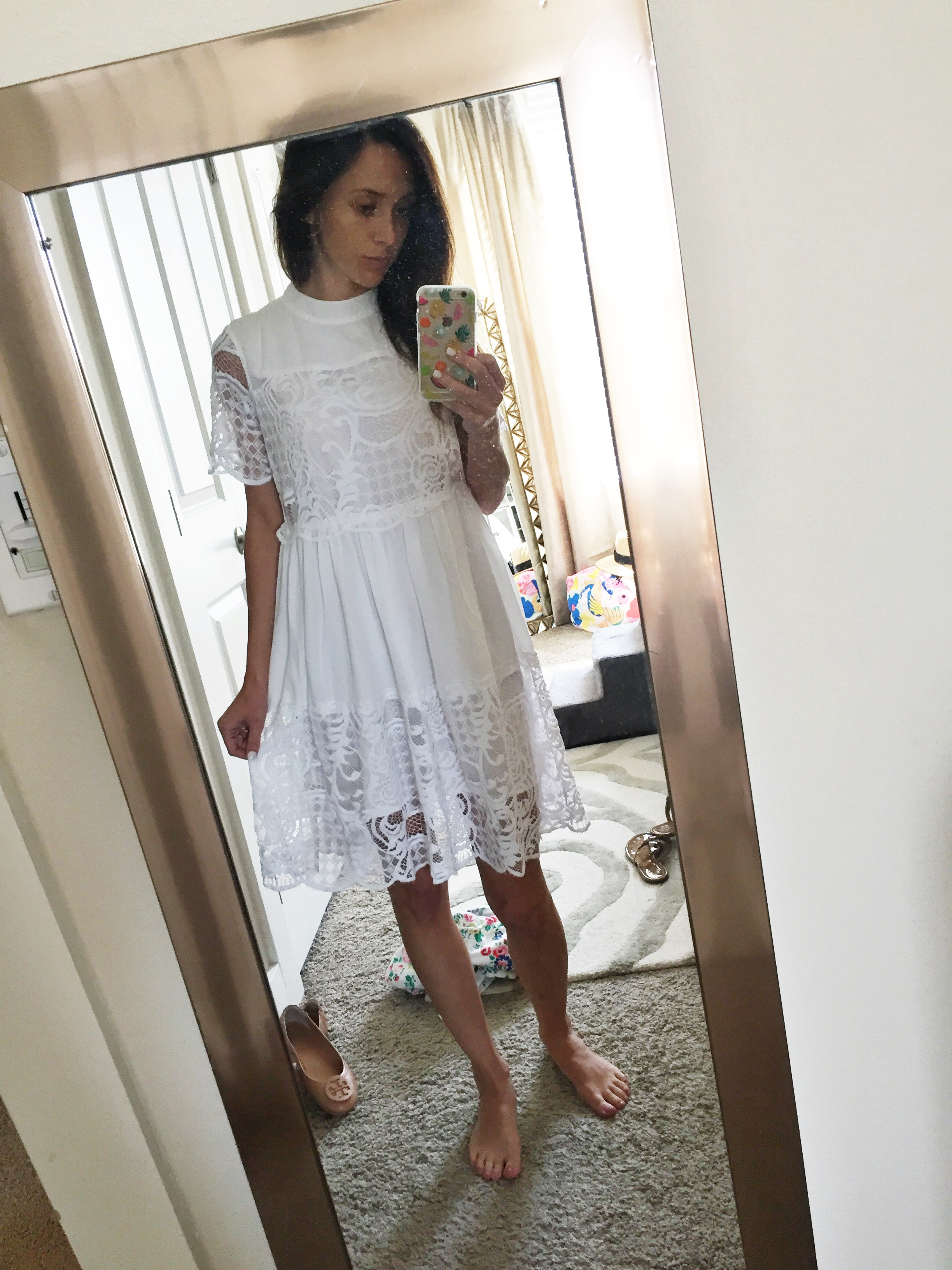 product review, shopping haul, online shopping, white dress,