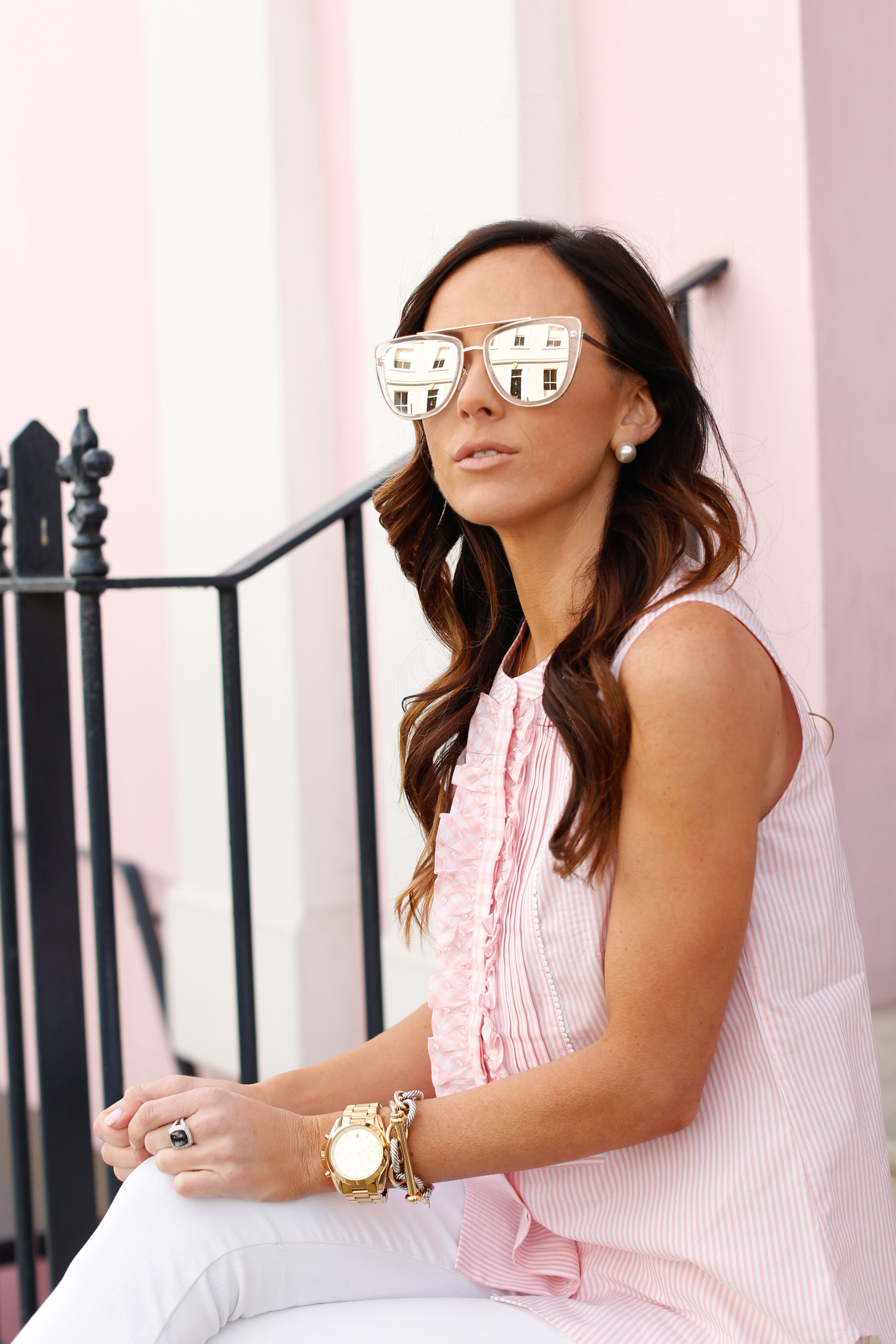 london, holland park, spring outfit, spring outfit inspiration, pink in london
