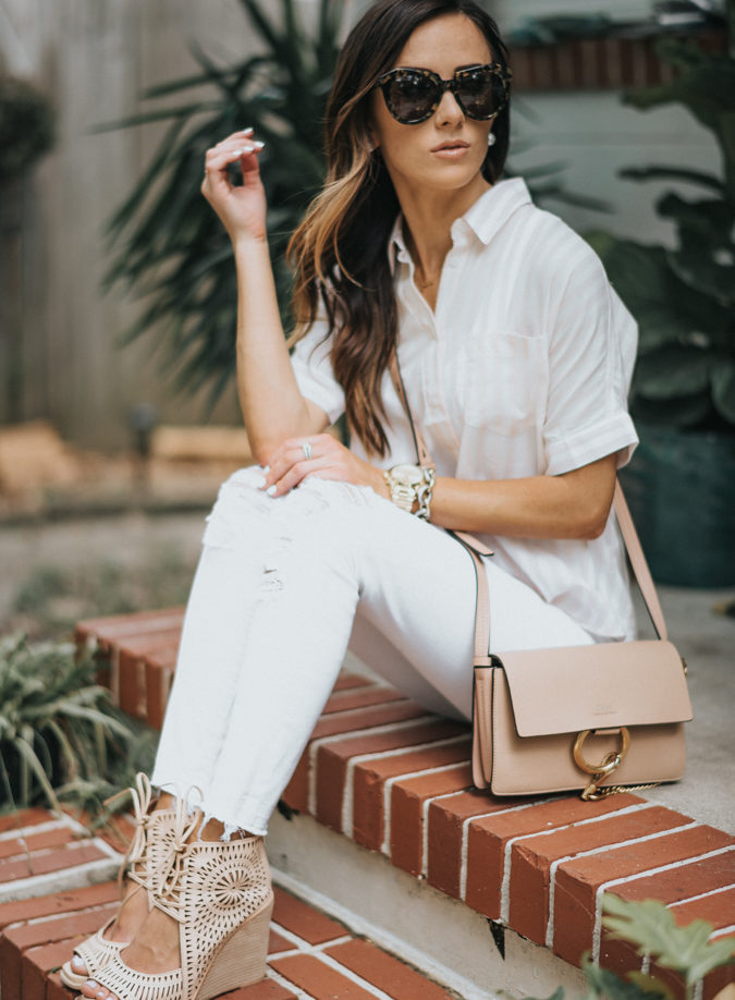 high low fashion, designer handbag, chloe, nordstrom, madewell, stripes, spring fashion, spring style