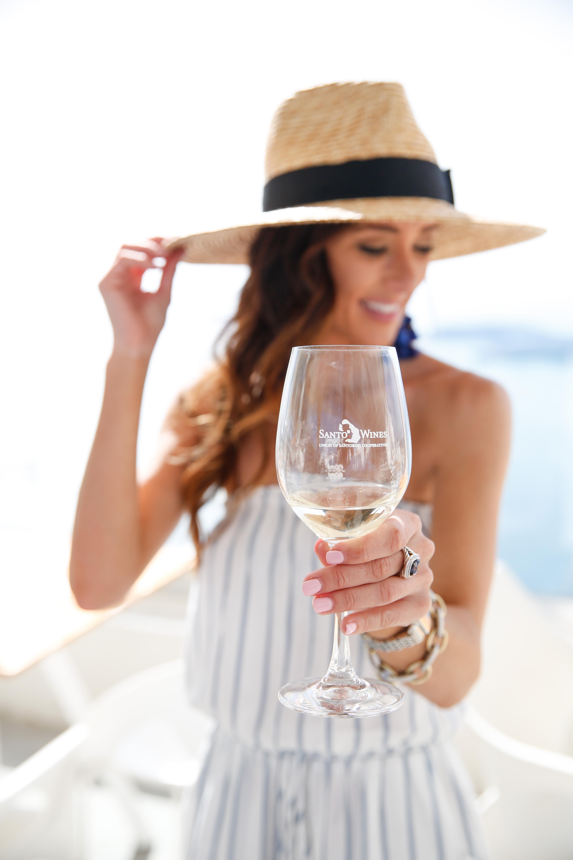 santorini greece, what to do in santorini, winery in santorini, santo winery, pyrgos greece, santorini, travel guide santorini, alyson haley, travel, travel to santorini