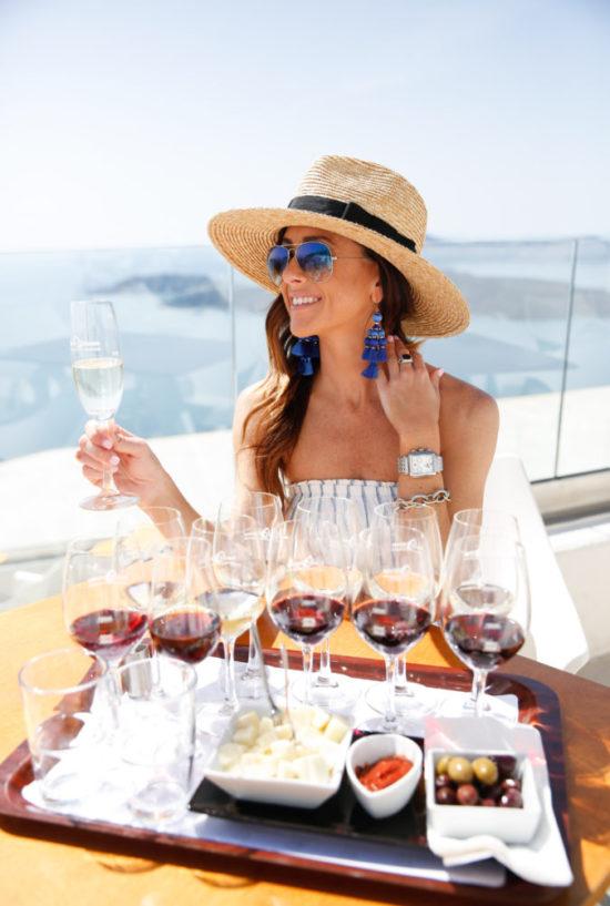 santo winery, best winery in santorini, santorini, greece, wine,
