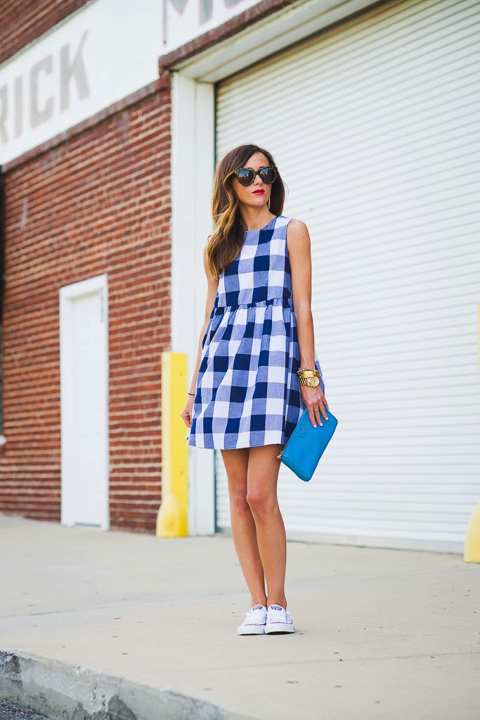 4th of july, America, Gingham, Affordable Fashion, Summer Dresses, Summer Style, Converse