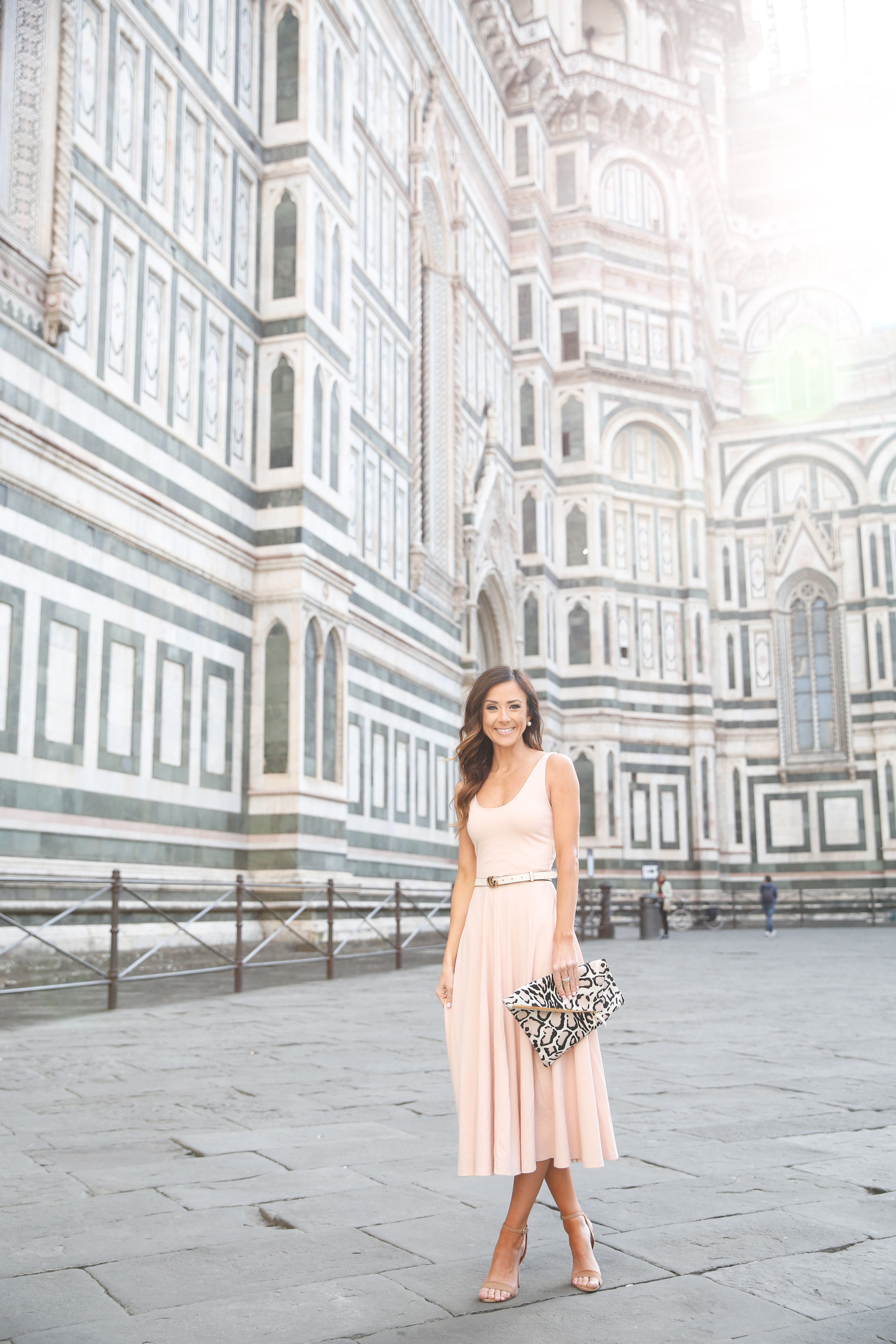 florence, the duomo, pink dress, summer style