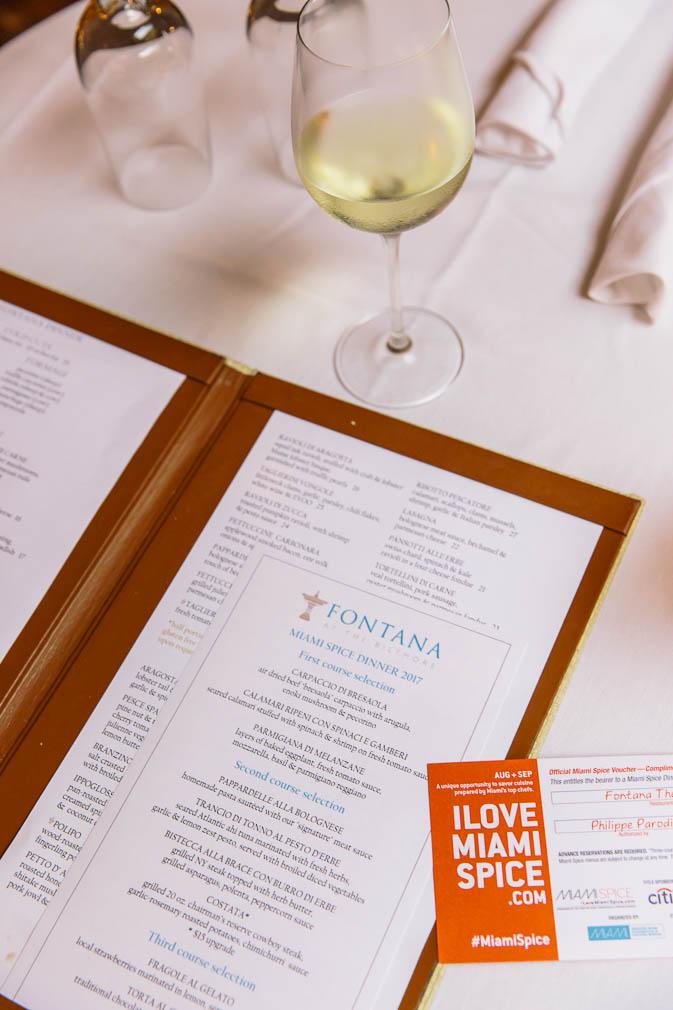 miami, italian cuisine, fontana, the biltmore hotel, biltmore hotel, coral gables,