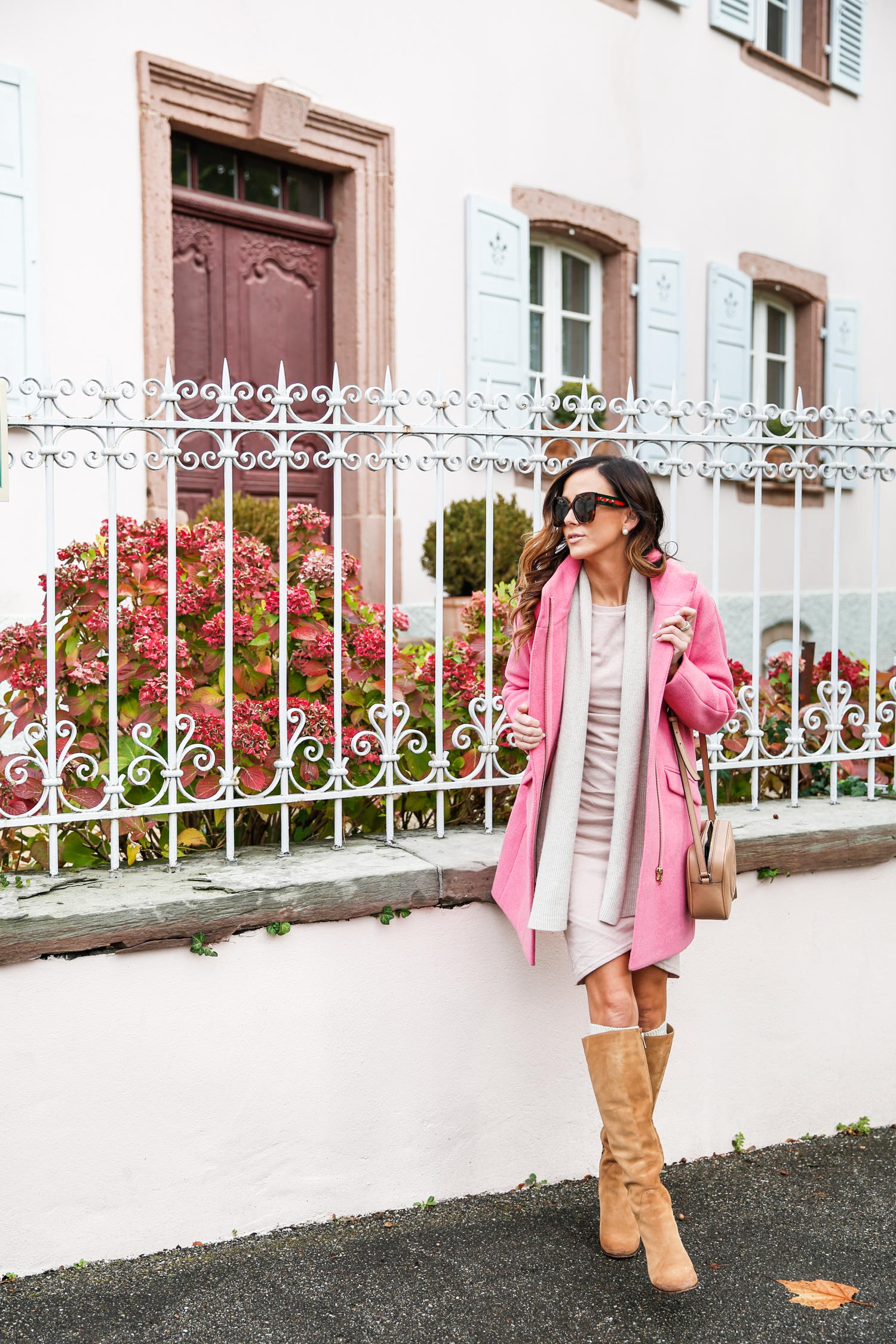pink coat, j.crew coat on sale, j.crew, cocoon coat, outerwear on sale, outerwear, winter coat, j.crew winter coat, what to wear in the winter in france, sequins & things, alyson haley