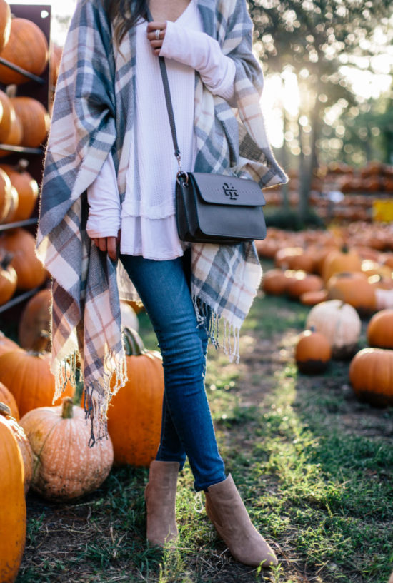 nordstrom, fall style, plaid cape, booties, pumpkins, fall fashion, basic style, casual style, pumpkin patch, sequins & things, alyson haley
