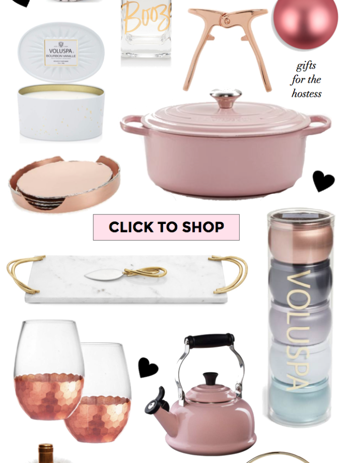 holiday gift guide, hostess gifts, gifts for a hostess