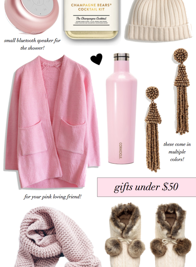 holiday gift guide, holiday gifts under $50, gifts under $50, sequins and things, alyson haley