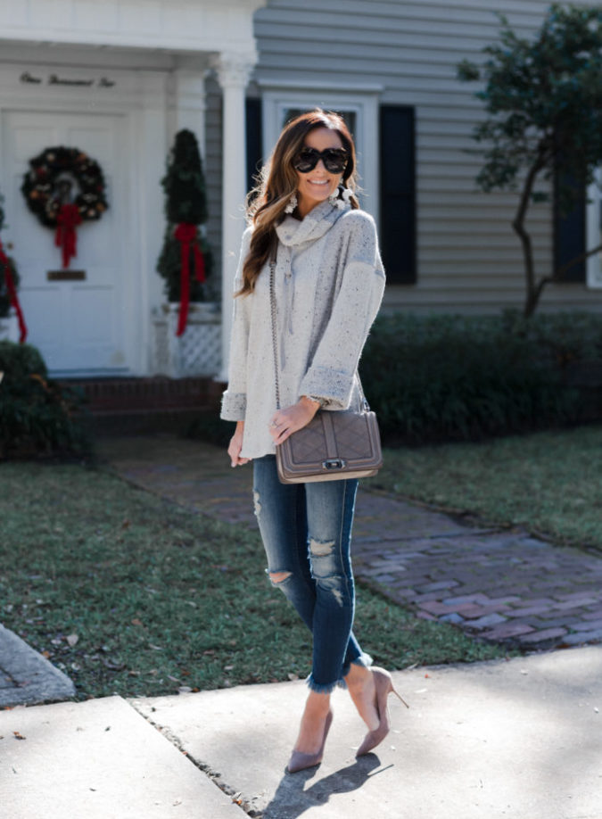 7 for all mankind jeans, casual outfit inspiration, manolo blahnik