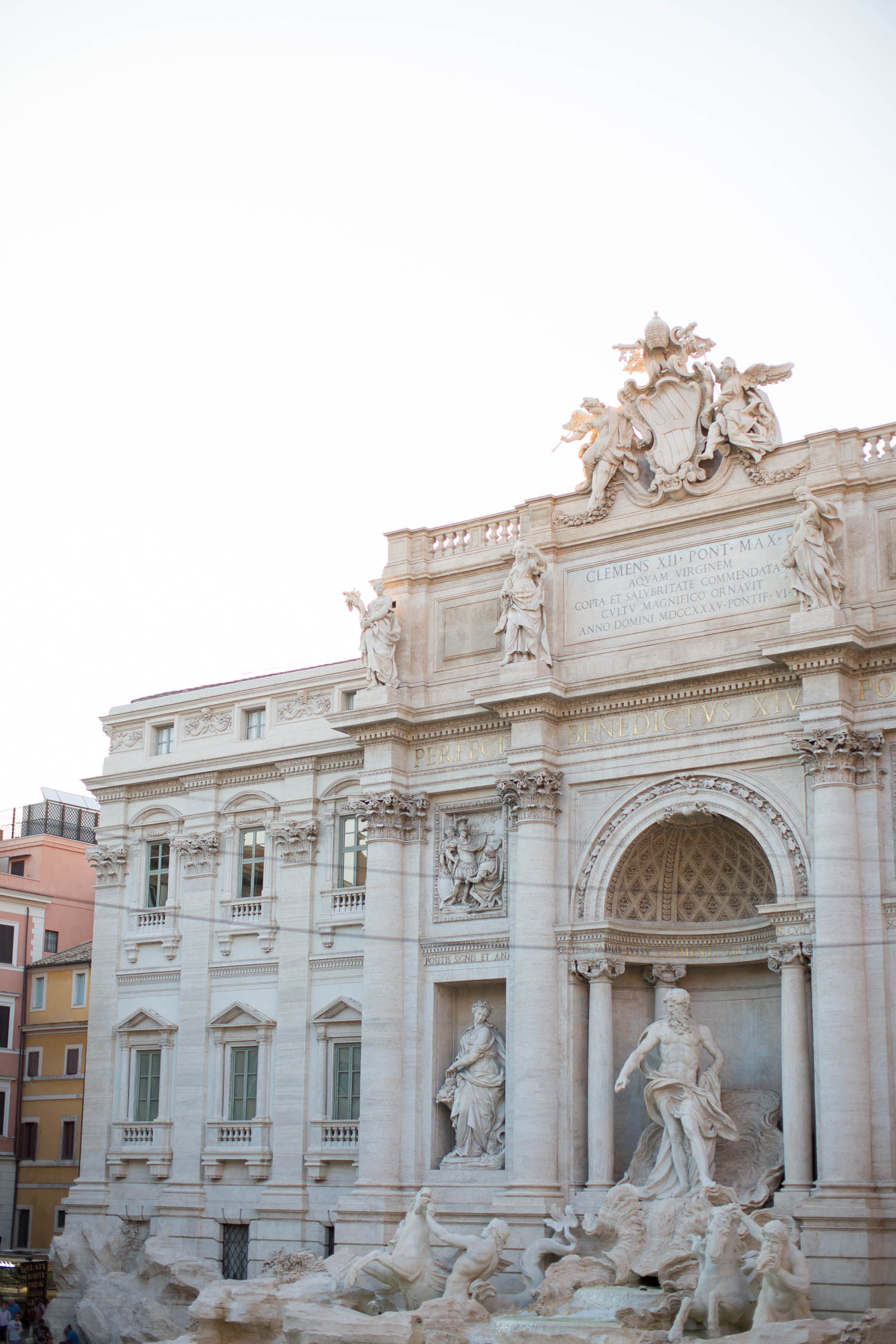 trevi fountain, rome, italy, rome travel diary
