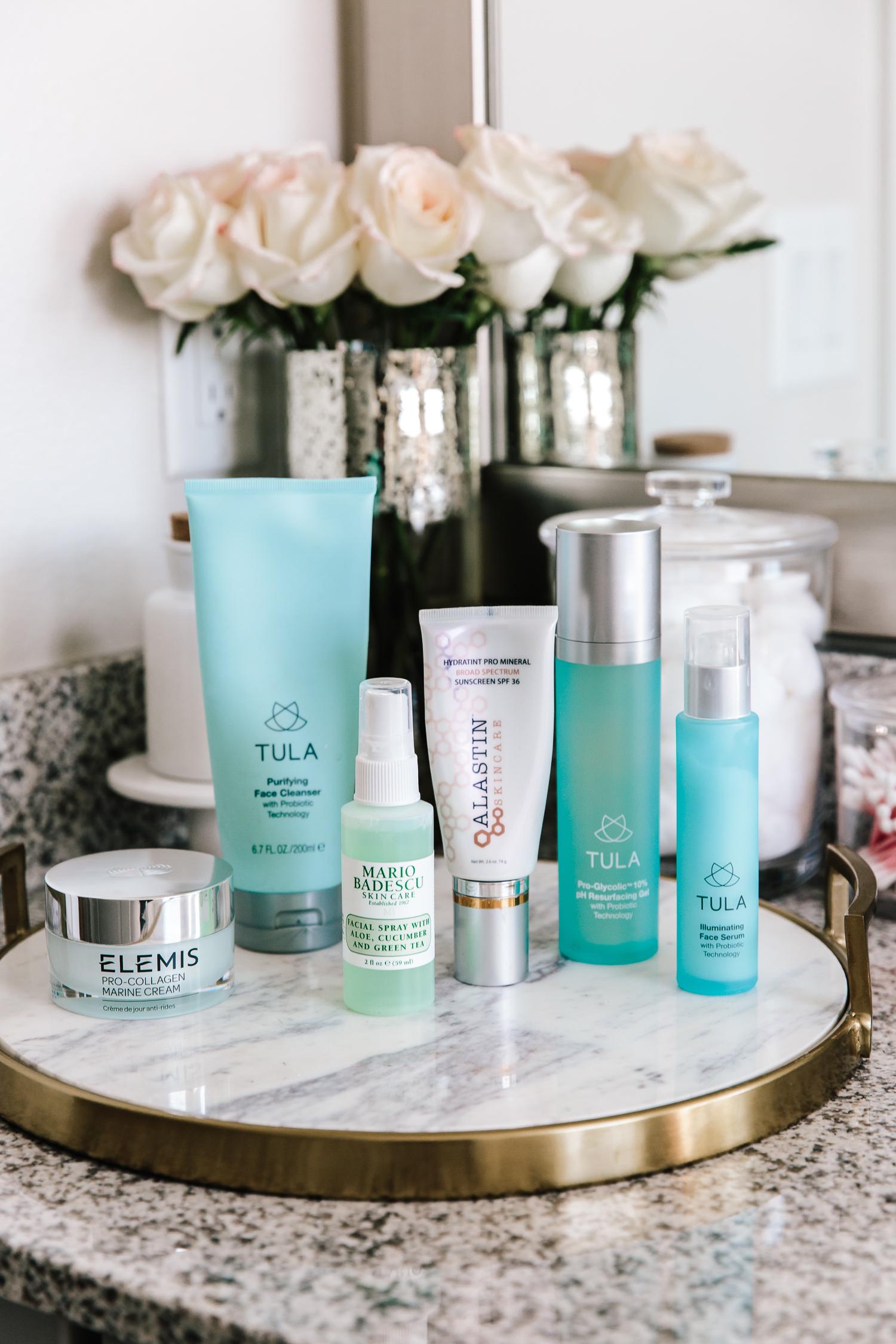 skin care routine, elemis, morning skincare, skincare, beauty, tula