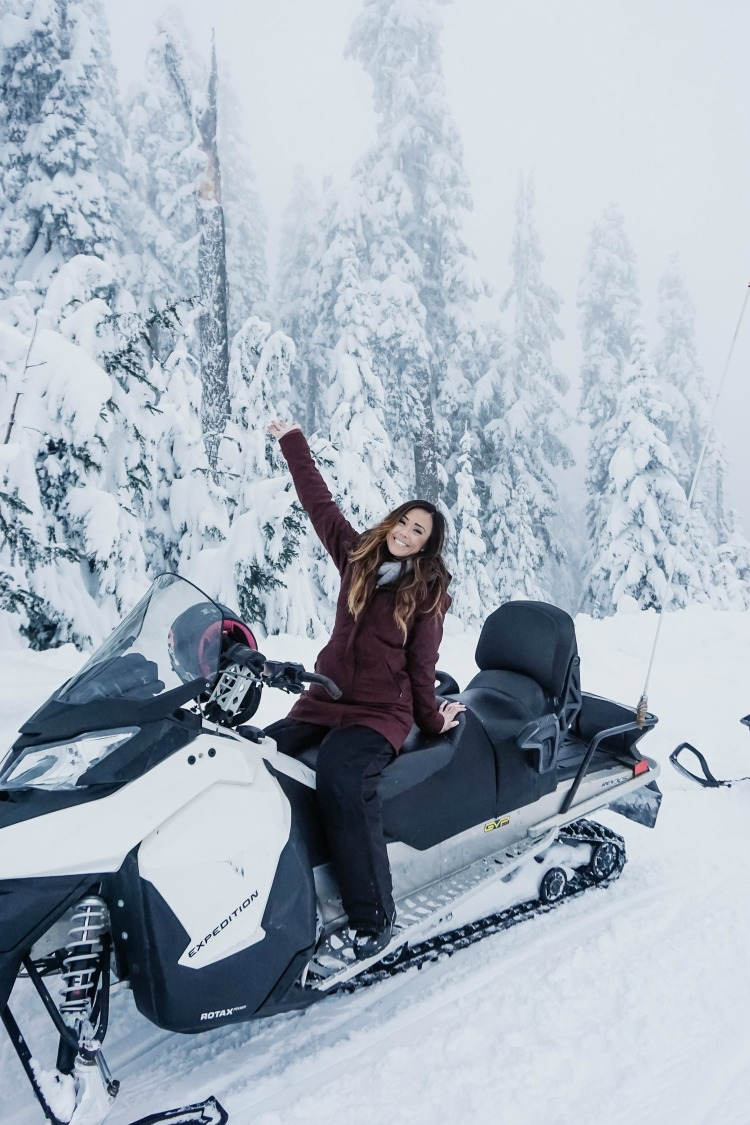 whistler, canada, snowmobiling, canadian wilderness adventure, sequins and things, alysonhaley