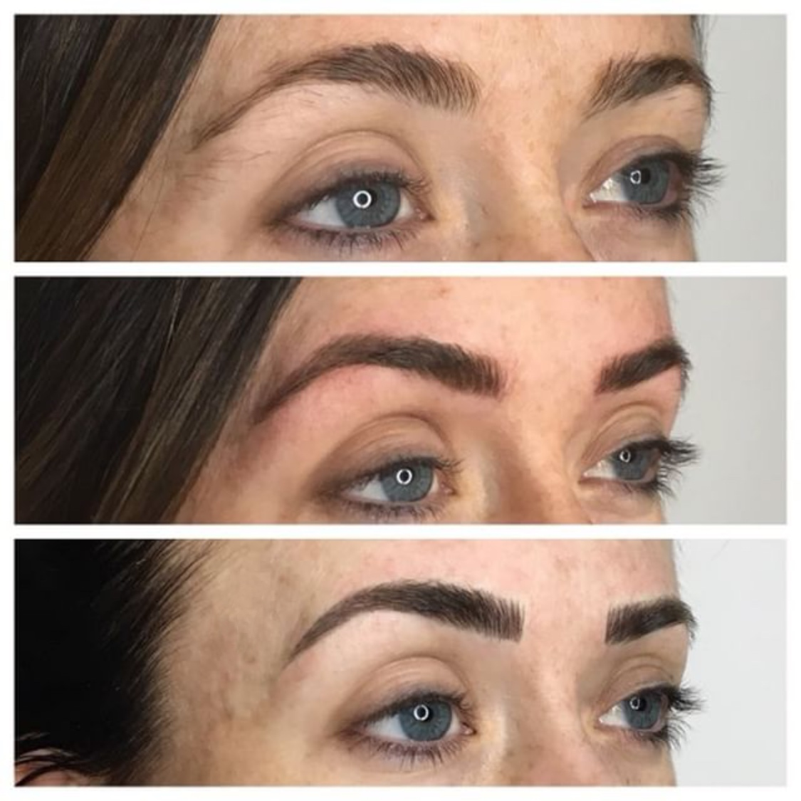 before and after microblading, eyebrow maintanence, eyebrow