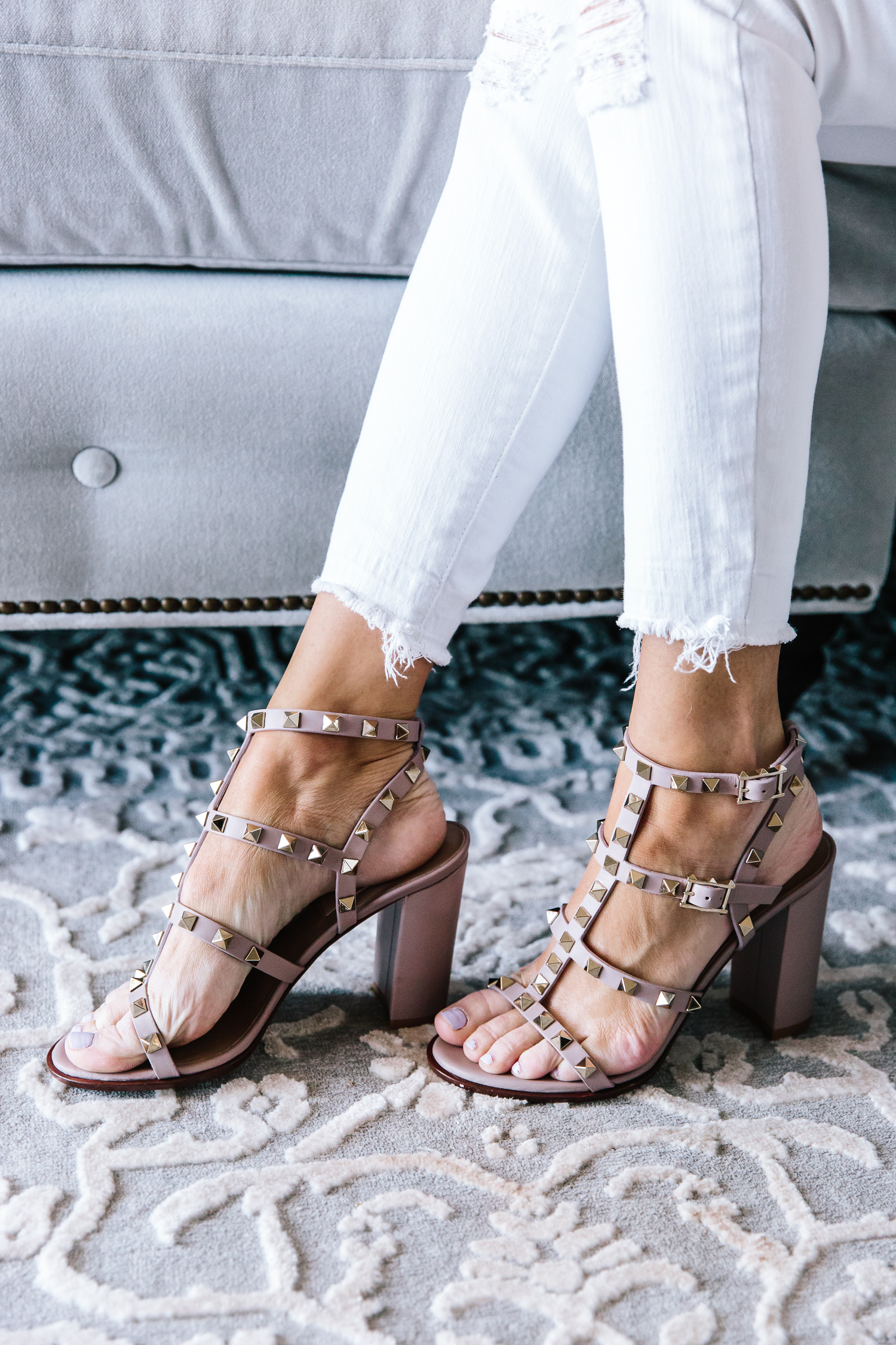 valentino, valentino rockstud sandals