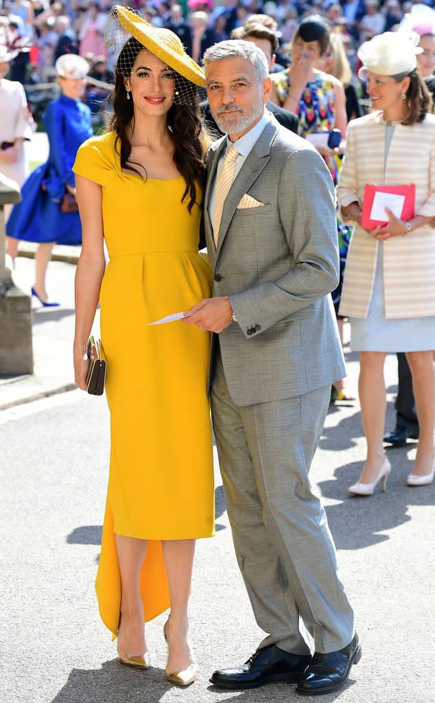 amal clooney, george clooney, royal wedding, prince harry, meghan markle, windsor
