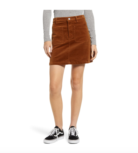 corduroy mini skirt in nordstrom anniversary sale 2019