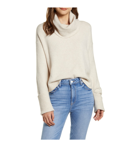 cowl neck sweater in nordstrom anniversary sale 2019
