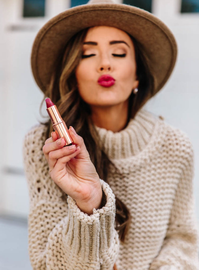 bold lip color for fall