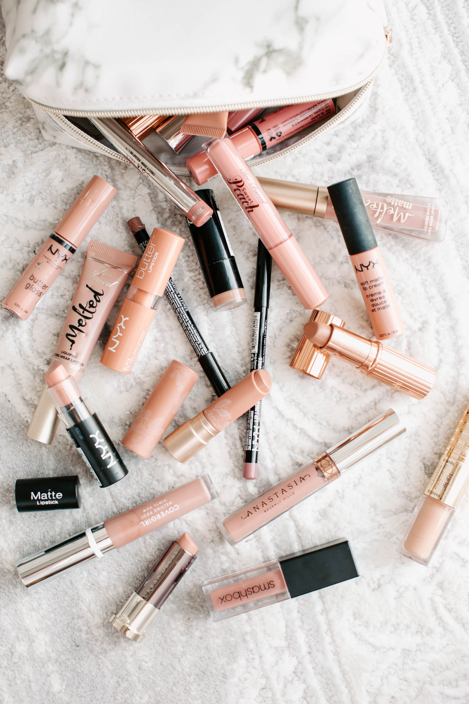 nude lipsticks, nude lip glosses